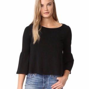 BB Dakota Libby Flare Sleeve Crop Top black XS